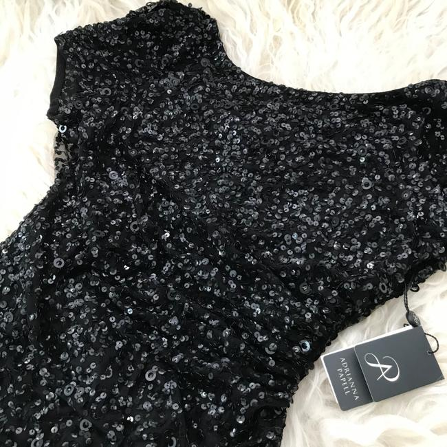 Adrianna Papell Black Sequined Mini Party Short Cocktail Dress Size 4 (S) Adrianna Papell Black Sequined Mini Party Short Cocktail Dress Size 4 (S) Image 8