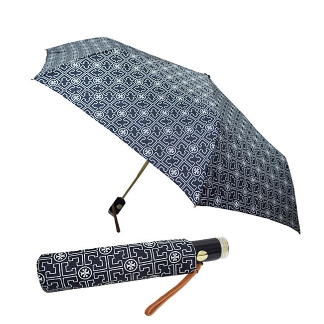 Item - Blue White Grey Navy Reva Logo Monogram Nylon Umbrella
