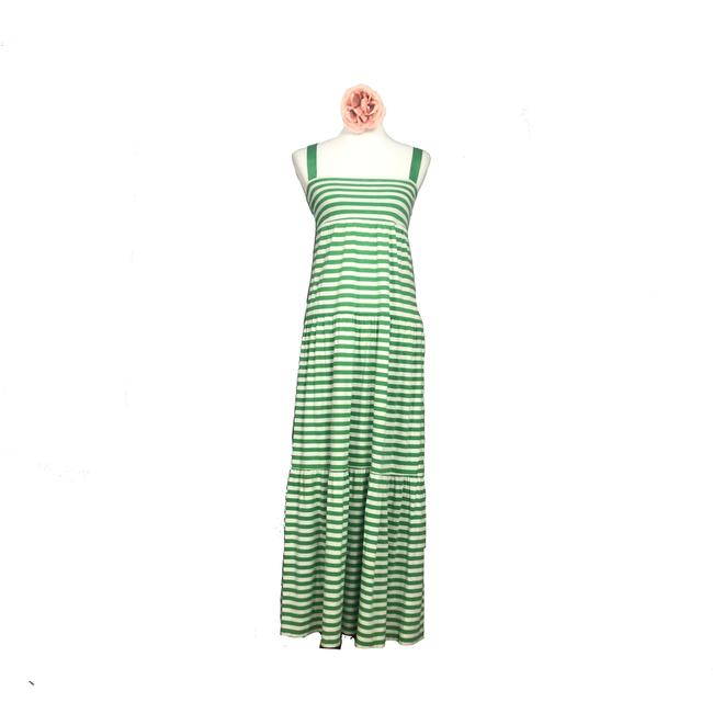 Item - Green and White Casual Maxi Dress Size 2 (XS)
