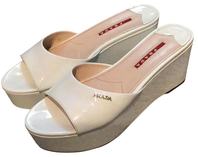Item - White Chunky Wedges Size EU 36.5 (Approx. US 6.5) Regular (M, B)