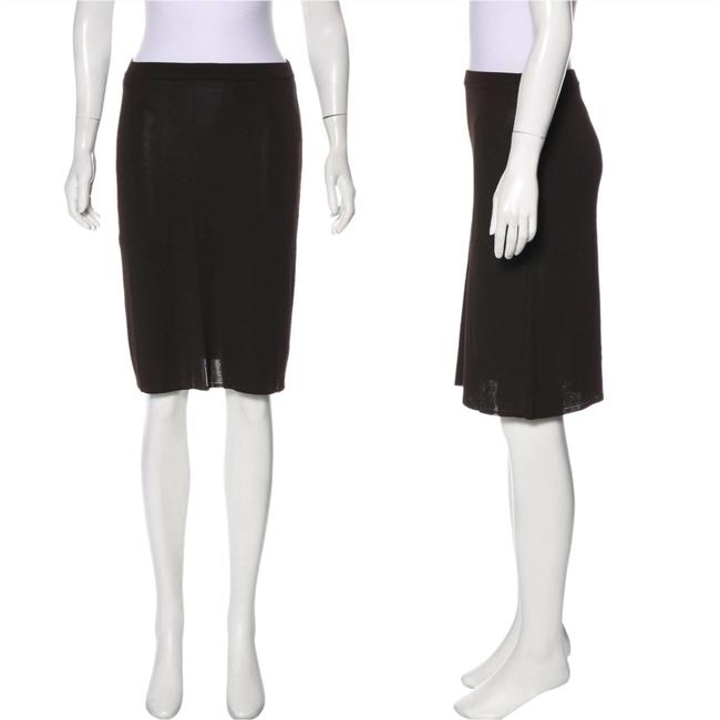 Item - Brown Knee-length Pencil Skirt Size 4 (S, 27)