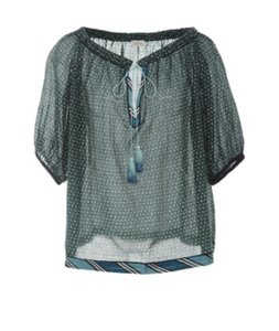 Talitha Top Green with blue