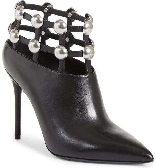 Item - Black Tina Pointed Toe Grommet Ankle Boots/Booties Size EU 39 (Approx. US 9) Regular (M, B)