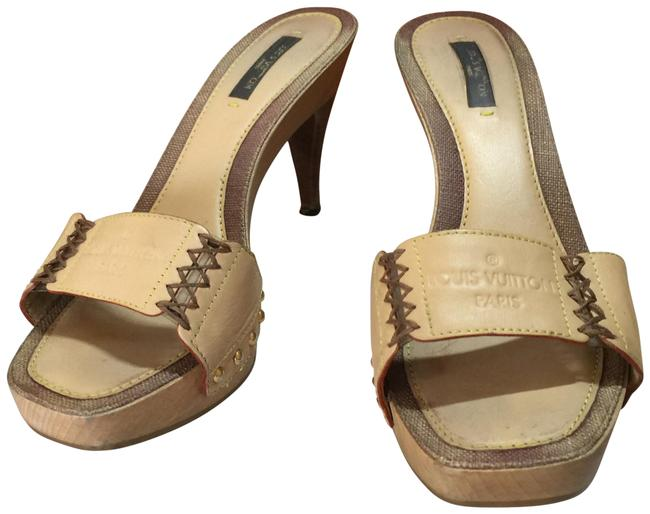 Item - Tan Brown Italy Mules/Slides Size EU 37 (Approx. US 7) Regular (M, B)