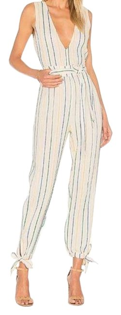 Item - White / Blue / Yellow Reese Romper/Jumpsuit