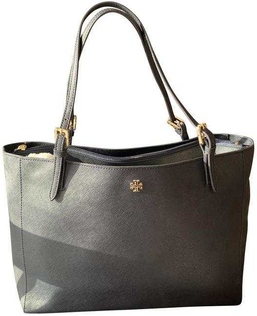 Item - York Saffiano Navy Blue Leather Tote