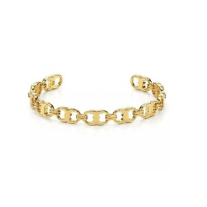 Tory Burch Tory Burch Gold Delicate Small Gemini Link Cuff Bracelet Bangle
