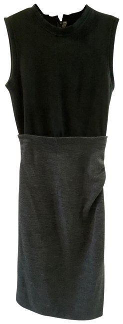 Item - Black and Grey 554 Long Work/Office Dress Size 6 (S)