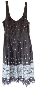 dELiA*s short dress brown/cream Lace Polka Dot Knee Length on Tradesy
