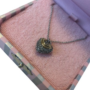 Juicy Couture YJRU3434 Wish Pave Heart Necklace