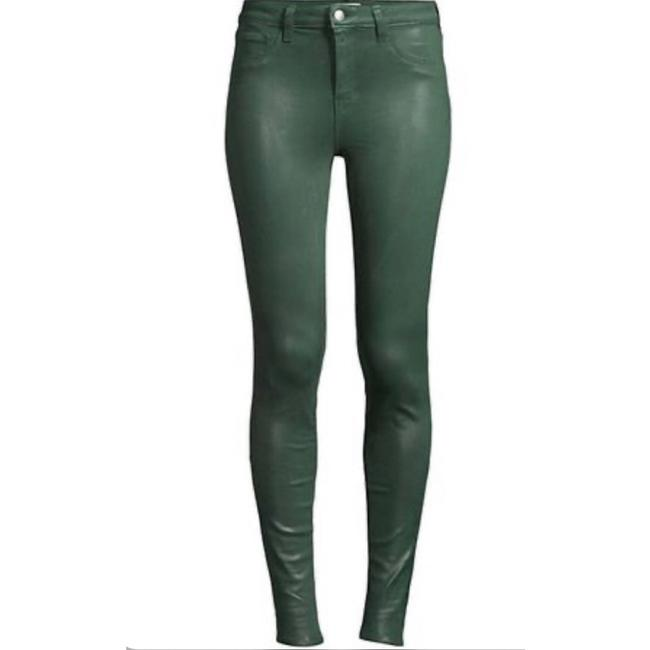 Item - Green Coated Marguerite Moss Skinny Jeans Size 6 (S, 28)