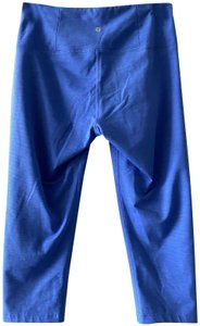 Manduka EUC Women's Manduka leggings/crops, blue, yoga, medium, M
