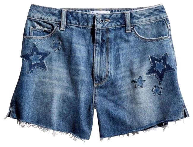 Item - Blue Star Patch High Rise Denim Shorts Size 6 (S, 28)