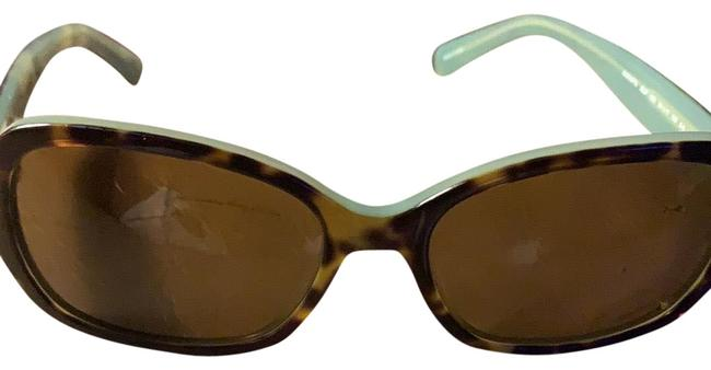 Item - Brown Multi Print Exterior and Mint Green Interior Very Cute Sunglasses