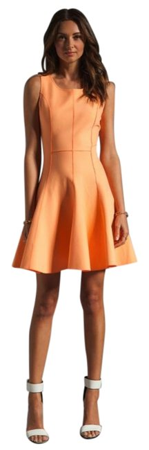 Item - Orange Heritage Flared Skirt Ponte Short Cocktail Dress Size 4 (S)