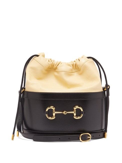 Item - Bucket Horsebit Mf 1955 Black Leather Shoulder Bag