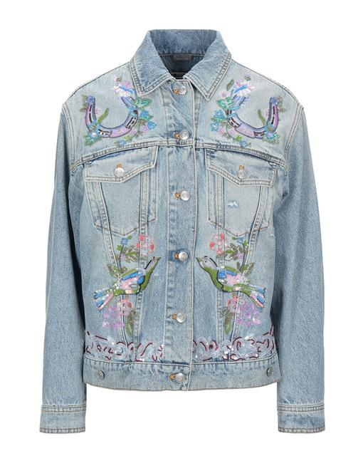 Item - Blue Embroidery Sequins Pearls 38 Jacket Size 2 (XS)