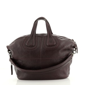 Givenchy Nightingale Leather Satchel in Purple