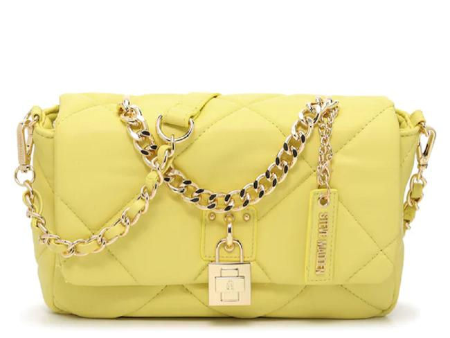 Item - Bferrah Quilted Yellow Faux Leather Cross Body Bag