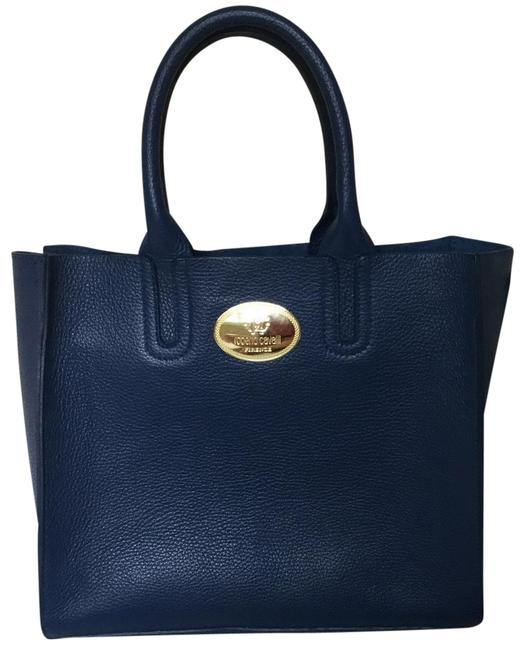 Item - Top Handle Bag Genuine Electric Blue Leather Tote