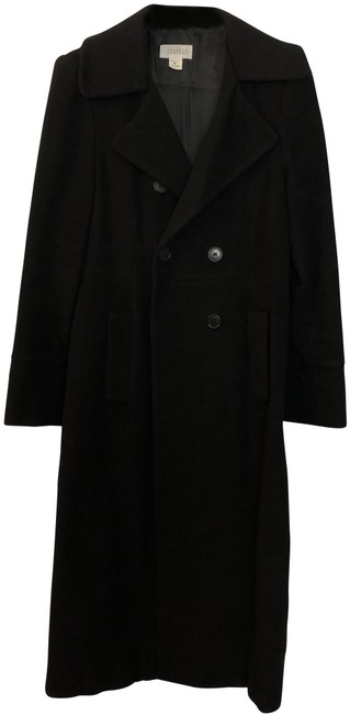 Item - Black Double-breasted Cashmere Coat Size 8 (M)