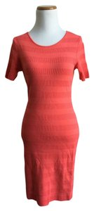 Torn by Ronny Kobo short dress Salmon Nylon on Tradesy