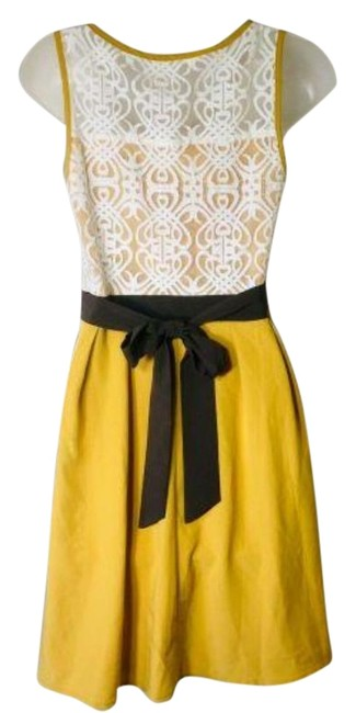 Item - Yellow No Mid-length Night Out Dress Size 4 (S)