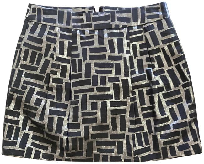 Item - Black and Silver Print Skirt Size 8 (M, 29, 30)