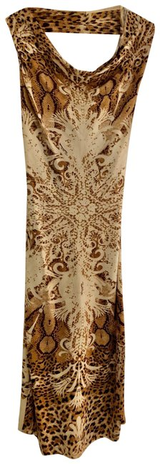 Item - Brown / Animal Print Silk Mid-length Night Out Dress Size 0 (XS)