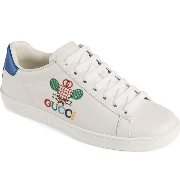 Item - White New Ace Embroidered Tennis Sneakers Size EU 39 (Approx. US 9) Regular (M, B)