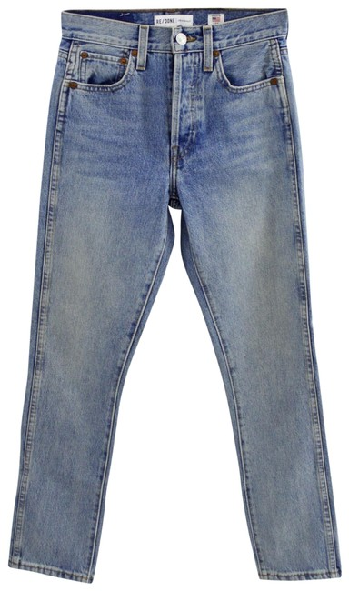 Item - Blue Light Wash Re/Done High Rise #159-76 Straight Leg Jeans Size 24 (0, XS)