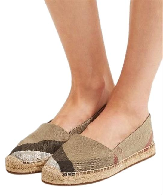 Item - Brown / Back/ Red Hodgeson Check Print Espadrille Flats Size US 8.5 Narrow (Aa, N)