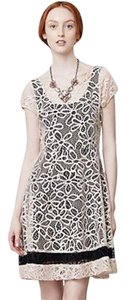 Weston Wear short dress Cream, black Summerdress Creamandblack Creamlace Florallace on Tradesy