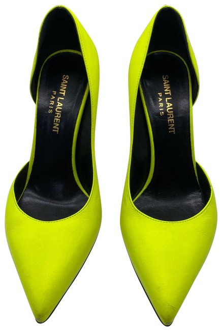 Item - Neon Yellow Ysl Pointed Pumps Size EU 35.5 (Approx. US 5.5) Regular (M, B)
