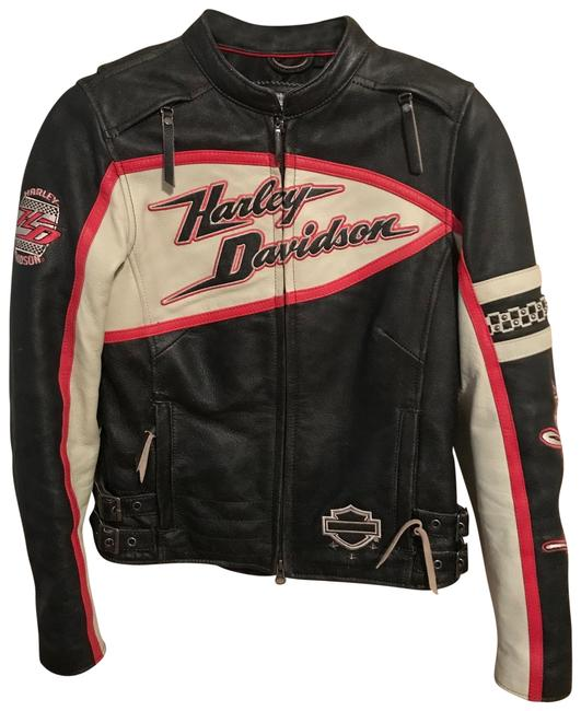 Item - Black Red Cream Riding Gear Jacket Size 2 (XS)