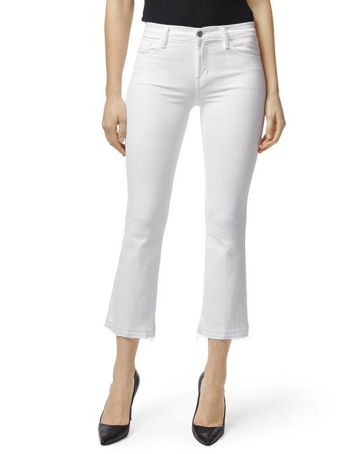 Item - White Light Wash Mid Rise Selena Crop Boot Cut Jeans Size 24 (0, XS)