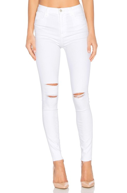 Item - White Light Wash Maria High-rise Skinny Jeans Size 24 (0, XS)