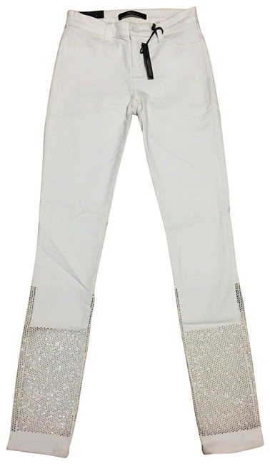 Item - White New *rare* Petra Mid Rise Studded Skinny Jeans Size 25 (2, XS)