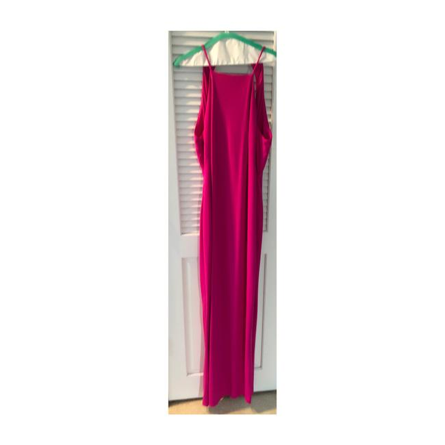 Item - Pink High Neck Gown Long Formal Dress Size 12 (L)