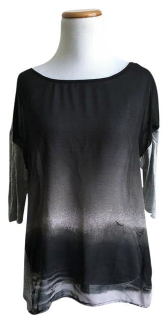 Preload https://item5.tradesy.com/images/kut-from-the-kloth-black-and-grey-t-shirt-2749459-0-0.jpg?width=400&height=650