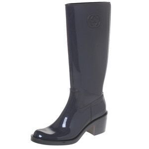 Gucci Rubber Fabric Grey Boots