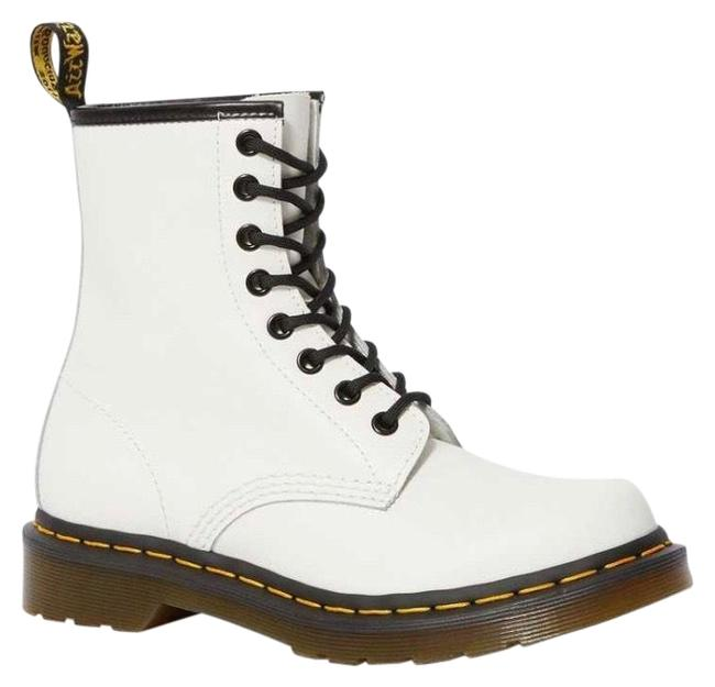 Item - Smooth White 1460 Women's Leather Lace Up Boots/Booties Size US 8 Regular (M, B)