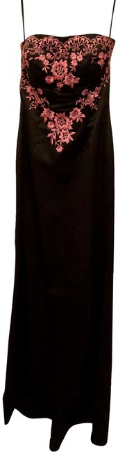 Item - Black and Pink Long Formal Dress Size 2 (XS)