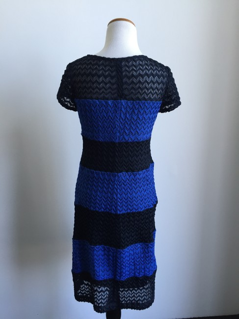 Muse short dress Blue and Black on Tradesy