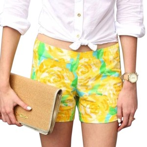 Lilly Pulitzer Mini/Short Shorts Yellow + Green + White
