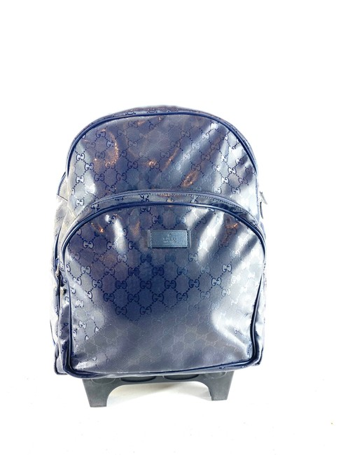 Item - Backpack Imprime Rolling Trolley Gg 4g615 Blue Patent Leather Weekend/Travel Bag