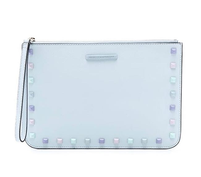 Item - Kerry with Studs Ice Blue Wristlet