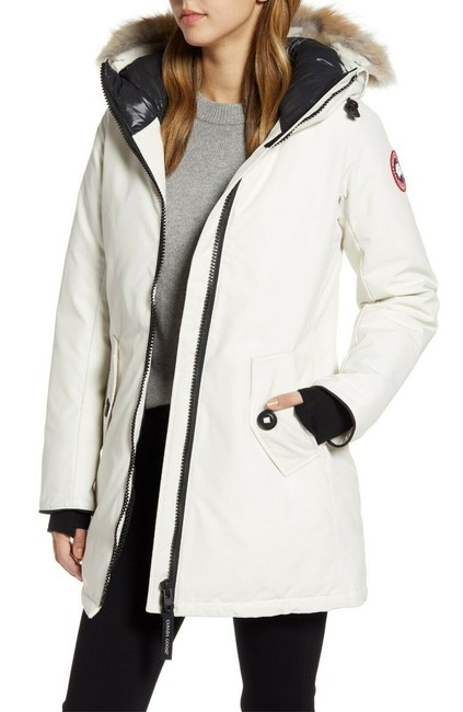 Item - White Rosemont Down Early Light Parka Coyote Fur Women's Coat Size 2 (XS)