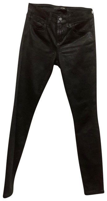 Item - Black Coated Cigarette Fit Skinny Jeans Size 00 (XXS, 24)
