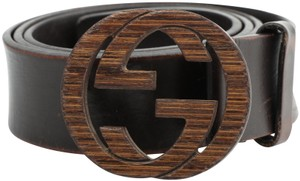 Gucci Gucci Wood Interlocking G Belt
